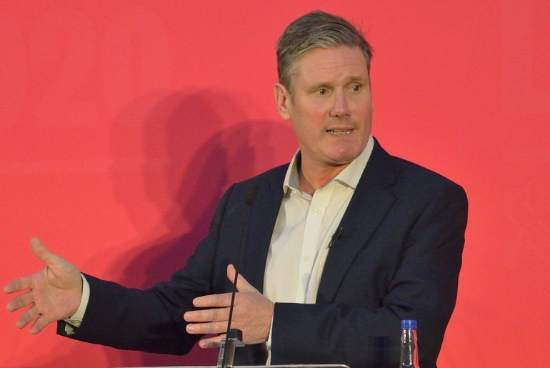 Keir Starmer at 2020 Labour leadership election hustings