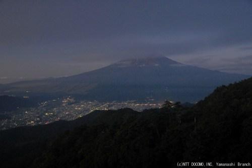 富士山・三ツ峠(2010年9月2日5:00)