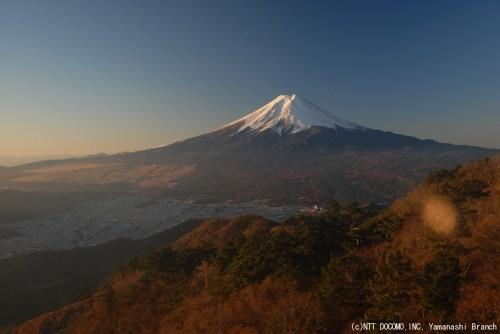 富士山・三ツ峠(2010年11月19日7:00)