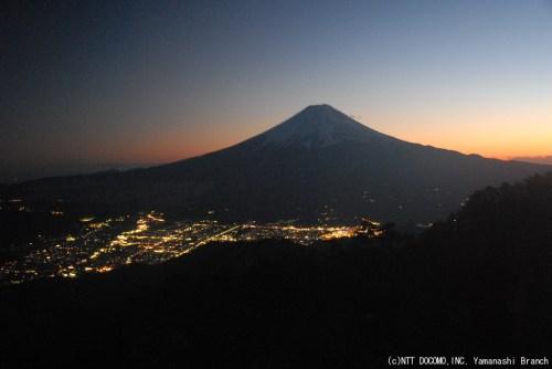 大晦日の富士山の夕景(2010年12月31日17:30)