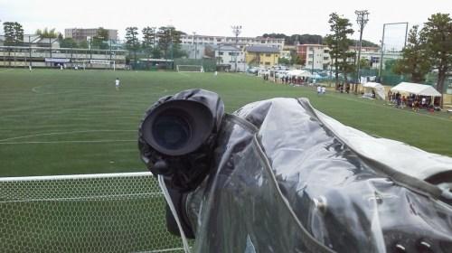 サッカーイントレ上のカメラ