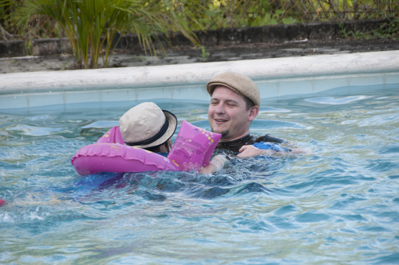 Christian & Eloise in the pool.