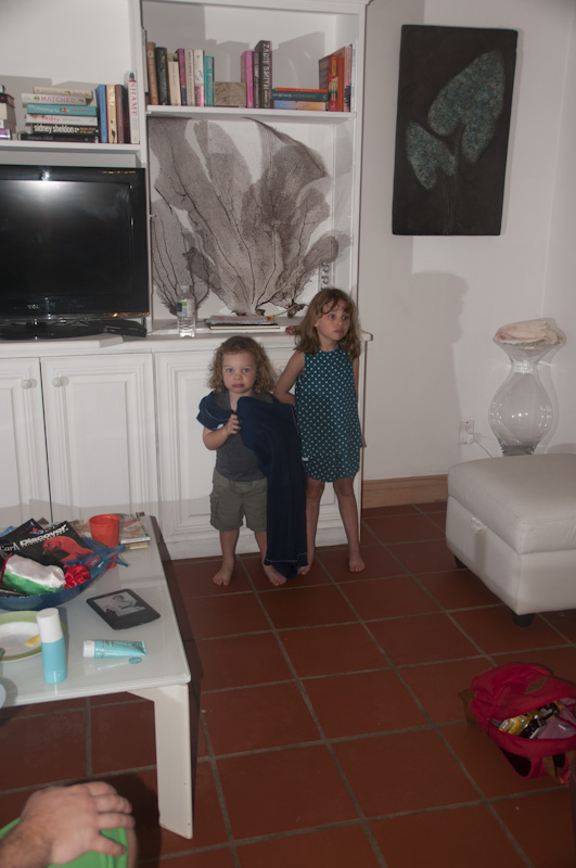 Eloise & Oliver in the villa living room.