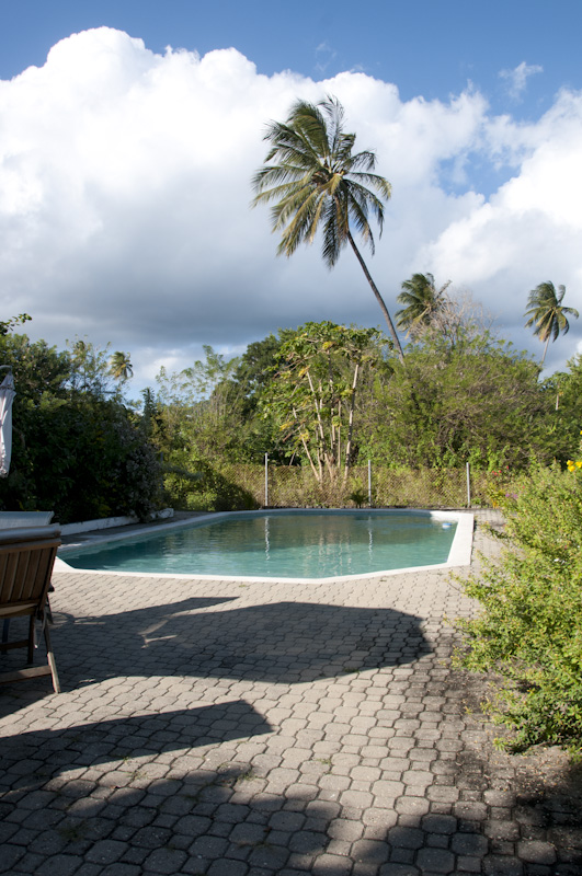 The villa pool area.