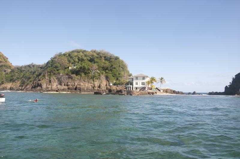 A house on Goat Island, Tobago.