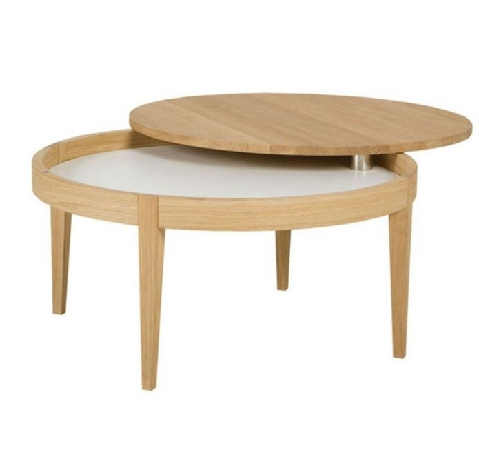 coffee table with storage secret coffee 80cm wood