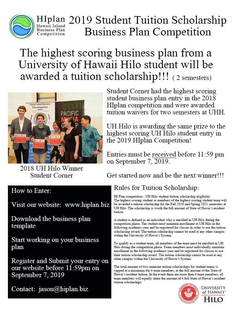 UH Hilo Scholarship Business Plan Competition