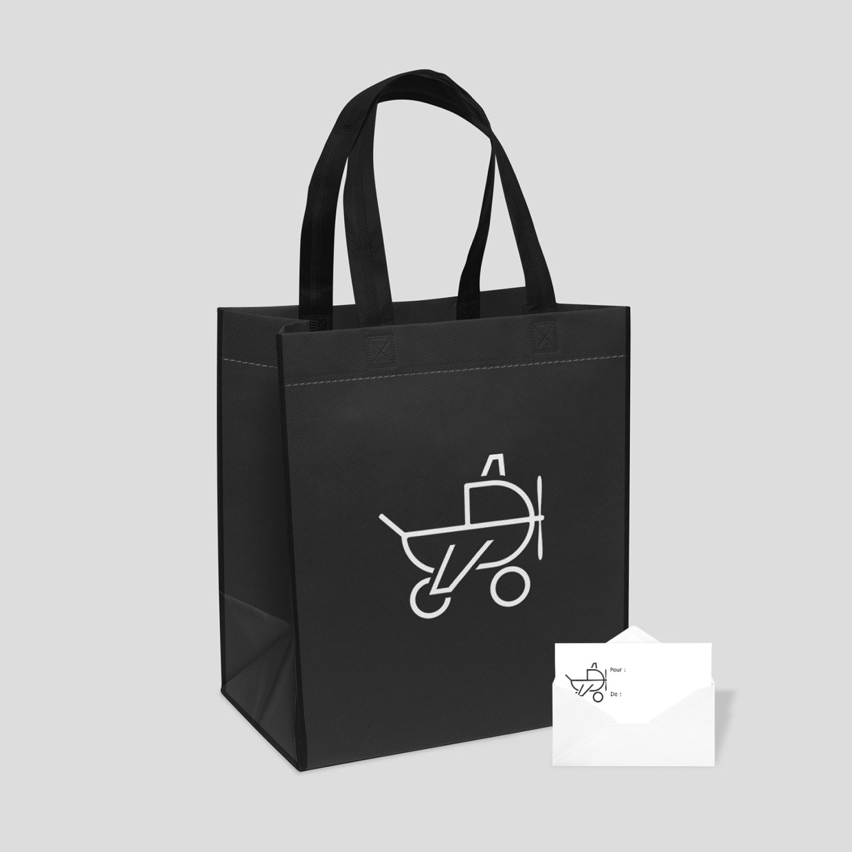 Sac cadeau réutilisable et carte-cadeau BB Jetlag