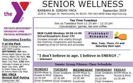September 2019 Senior Newsletter