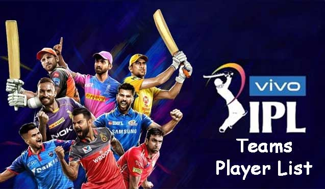 IPL 2020 Team Players List