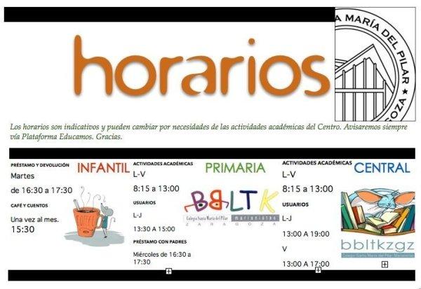 HORARIOS BBLTK