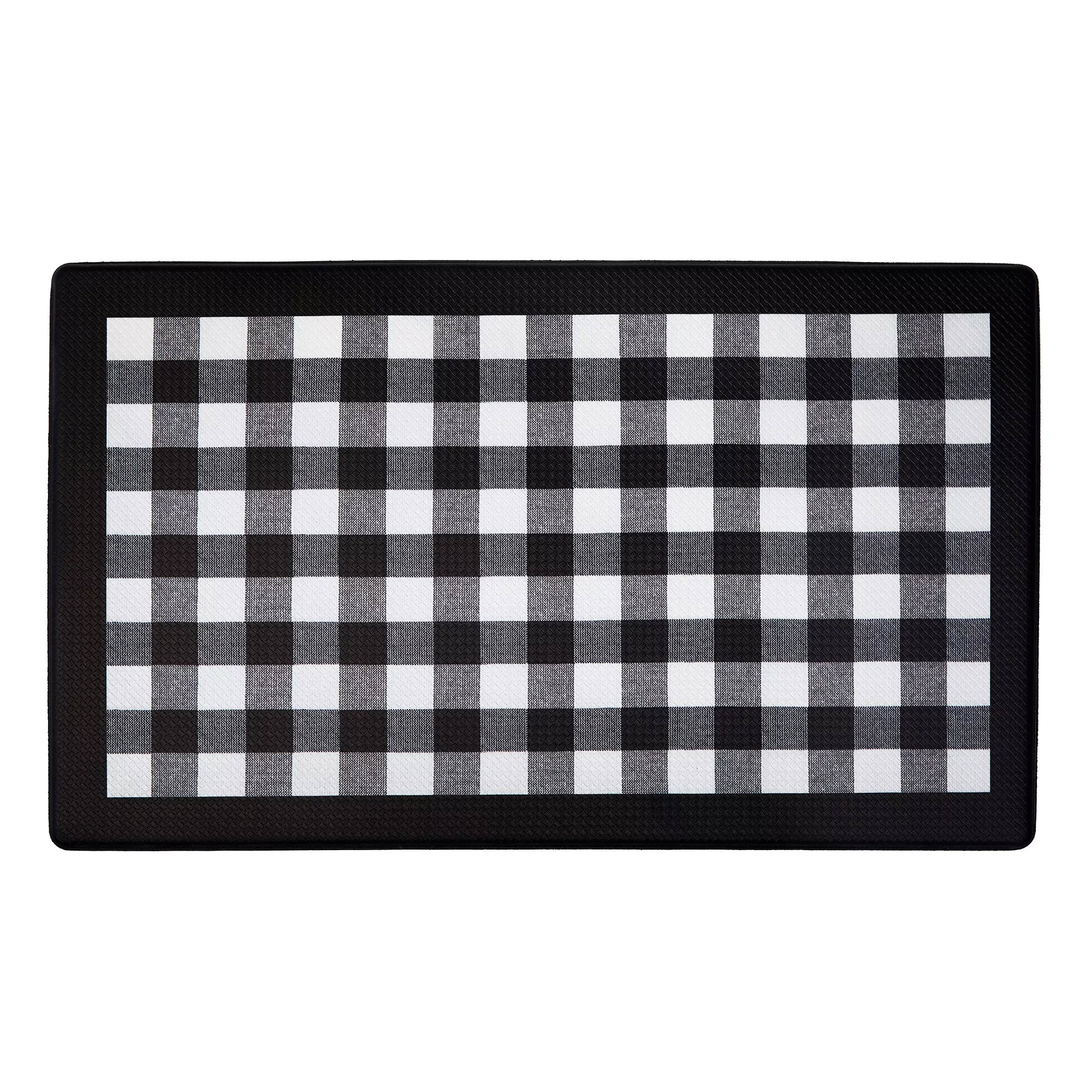 Details About Buffalo Check Printed Anti Fatigue Kitchen Floor Rug Mat 18 X 30 Black White