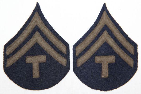 G002. WWII FELT ON FELT TECH CORPORAL STRIPES