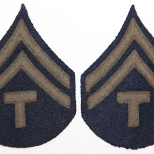 G002. WWII FELT ON FELT TECH CORPORAL STRIPES
