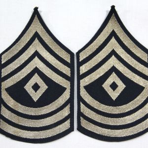G003. WWII BEVO WEAVE FIRST SERGEANT STRIPES