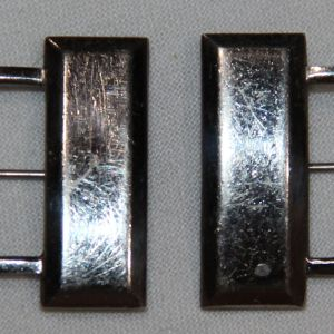 H011. MATCHED PAIR OF WWII PINBACK CAPTAINS BARS, HALLMARKED ACID TEST