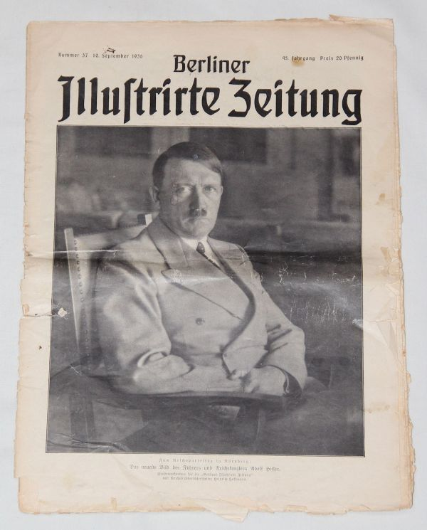 """R007. PRE WWII 1936 DATED """"BERLIN ILLUSTRATED NEWSPAPER"""""""