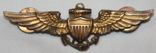 H015. WWII USN, USMC BALFOUR PILOT WINGS