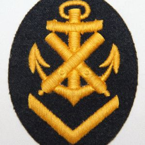 O.002. WWII GERMAN KRIEGSMARINE ARMORER CHIEF PETTY OFFICER SLEEVE INSIGNIA