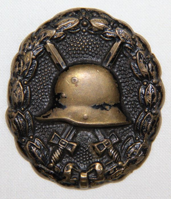 B014. WWI GERMAN BLACK WOUND BADGE