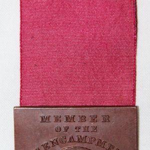 A003. APRIL 1890 G.A.R. 16TH ENCAMPMENT DEPARTMENT OF IOWA, DES MOINES MEDAL