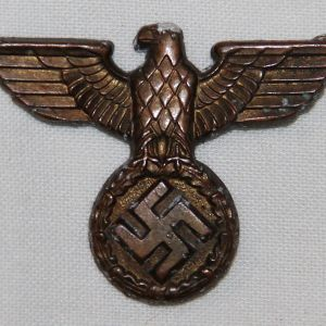 P018. REICHSBAHN, REICHSPOST OR CUSTOMS VISOR CAP EAGLE