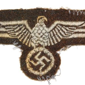 O.016. WWII GERMAN UNKNOWN BROWN BREAST EAGLE