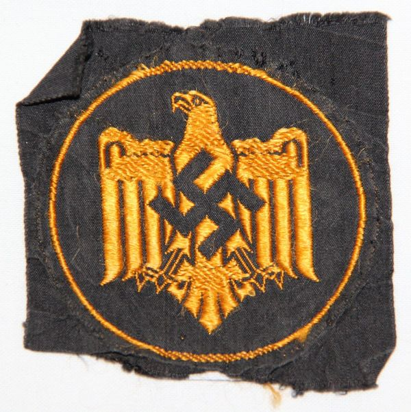 O.025. WWII GERMAN DRL BRONZE SPORTS BADGE IN CLOTH