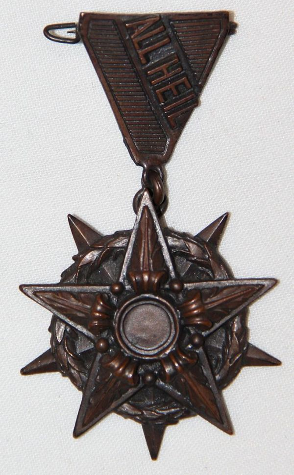 "Q018. WWII GERMAN UNKNOWN ""ALL HEIL"" MEDAL"