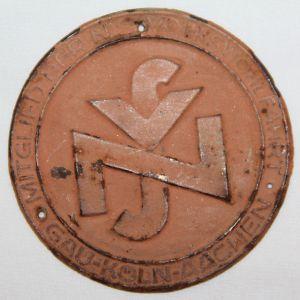 P030. WWII GERMAN NSV MEMBERS DOOR PLAQUE KOLN-AACHEN