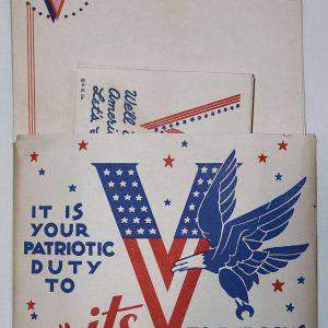 I062. WWII 1942 DATED PATRIOTIC STATIONERY PACKET