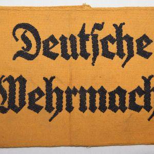 O.111. WWII GERMAN DEUTSCHE WEHRMACHT ARMBAND