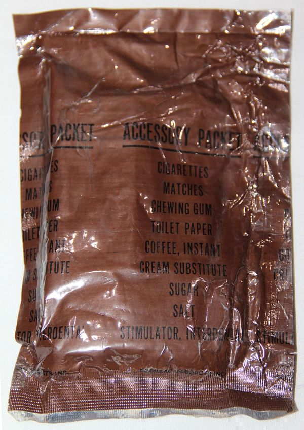 T004. VIETNAM UNOPENED C-RATION ACCESSORY PACK W/ CIGARETTES