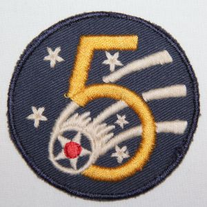 G165. WWII AUSTRALIAN MADE 5TH AAF PATCH