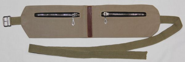 E022. WWII MONEY BELT MADE BY HICKOK, SIZE LARGE