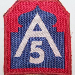 G028. WWII ITALIAN MADE 5TH ARMY PATCH