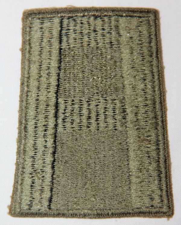G034. WWII FIRST ARMY PATCH WITH TOTAL GREENBACK