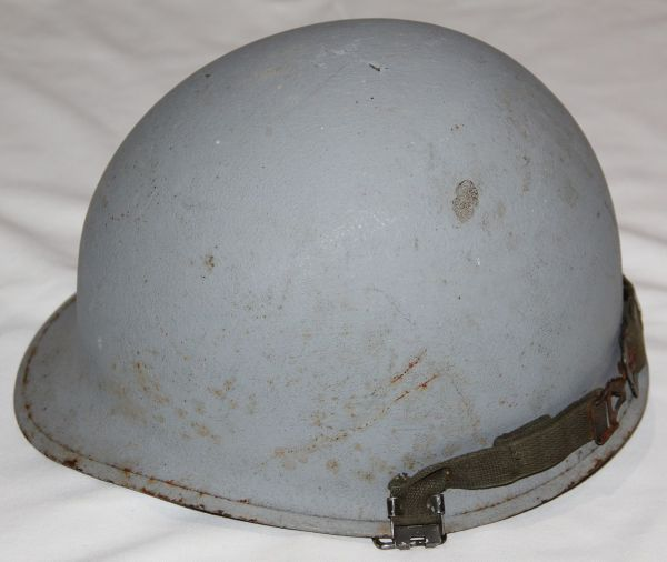 T028. VIETNAM M1 HELMET WITH LINER & CAPTAIN MARKED CAMO COVER