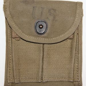 E043. WWII M1 CARBINE BUTTSTOCK AMMO CLIP POUCH, 1943 DATED