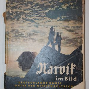 "R019. WWII GERMAN ""NARVIK IM BILD"" BOOK, GERMANY'S WAR UNDER THE MIDNIGHT SUN"