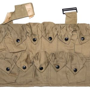 B056. UNISSUED WWI 11 POCKET GRENADE VEST, 1918 DATED