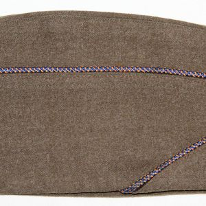 C020. WWII AAF PIPED WOOL OVERSEAS, GARRISON CAP