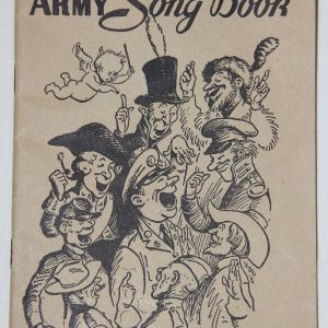 J022. WWII 1941 DATED ARMY SONG BOOK