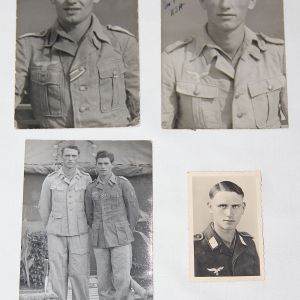 R023. 3 POSTCARDS & 1 PHOTO OF HEER & LUFTWAFFE SOLDIER IN TEXAS POW CAMP