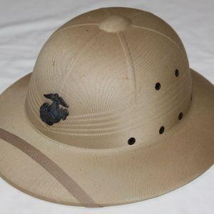 T048. VIETNAM USMC TROPICAL PITH HELMET WITH EG&A