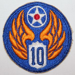 G069. WWII AAF 10TH AIR FORCE PATCH