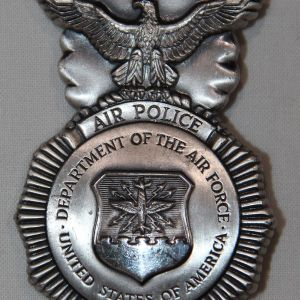 U008. OBSOLETE USAF AIR POLICE BADGE WITH SERIAL NUMBER