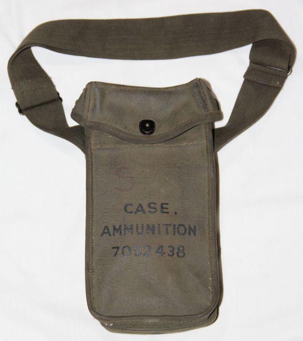 T054. VIETNAM GREASE GUN SMG AMMO CLIP BAG WITH SHOULDER STRAP