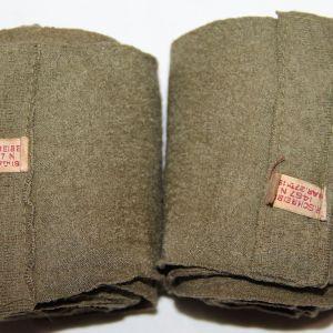 B067. WWI WOOL LEG WRAP PUTEES LEGGINGS 1918 DATED