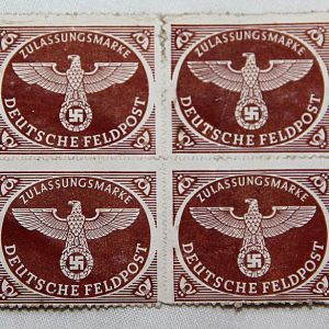 R089. 8 WWII GERMAN FELDPOST MAIL STAMPS